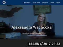 Miniaturka www.wachocka.pl (Kompleksowa obsługa i pomoc prawna)