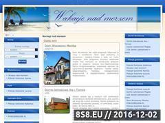 Miniaturka domeny www.wakacje-nad-morzem.info