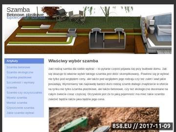 Zrzut strony Walbud szamba betonowe wodoszczelne