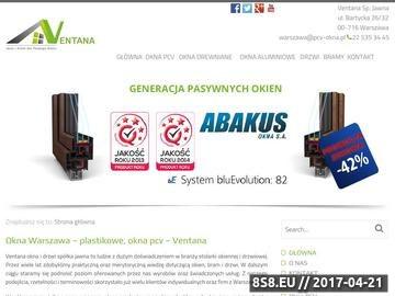 Zrzut strony Ventana Okna warszawa.pcv-okna.pl
