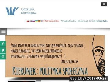 Zrzut strony WSP im. J. Korczaka w Warszawie