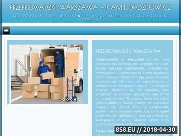 Zrzut strony Przeprowadzki Warszawa