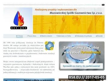 Zrzut strony Was - Gaz:przyłącza gazowe, instalacje gazowe, gaz