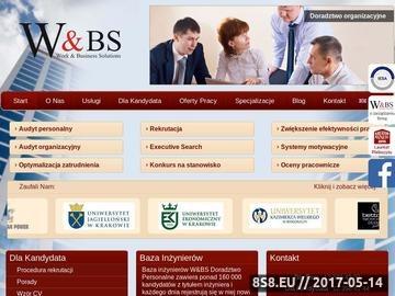 Zrzut strony W&BS Doradztwo Personalne, Executive Search/ Headhunting, firma rekrutacyjna