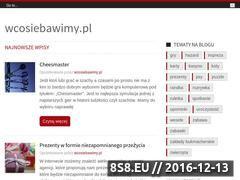 Miniaturka domeny www.wcosiebawimy.pl