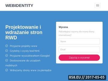 Zrzut strony Webidentity strony internetowe Wrocław