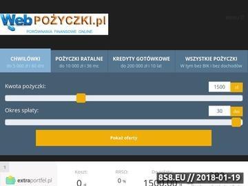 Zrzut strony Webpozyczki.pl - najlepsze pożyczki online - bez BIK!