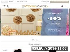 Miniaturka domeny weddingmarket.pl