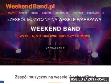 Zrzut strony Zespół muzyczny na wesele WeekendBand Warszawa mazowieckie