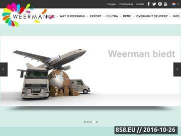 Zrzut strony Weerman, import kwiatów, transport