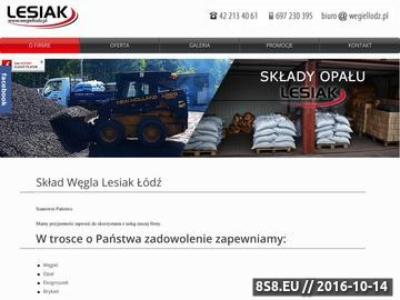 Zrzut strony Węgiel Łódź