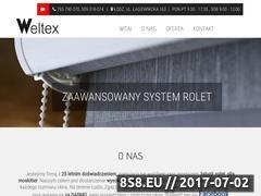 Miniaturka weltex.pl (Profesjonalne rolety Łódź)