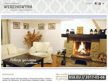 Zrzut strony Pensjonat Werchowyna w Bieszczadach
