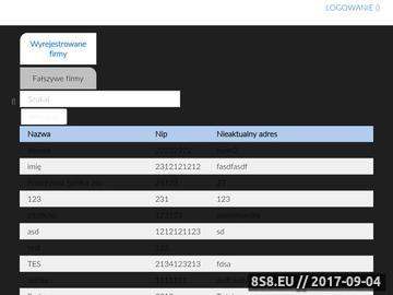 Zrzut strony WeryfikacjaFirm.pl - Sprawdzanie firm transportowych, spedycyjnych i produkcyjny
