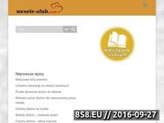 Miniaturka www.wesele-slub.com (Strona oferuje pomoc w przygotowaniach ślubnych)