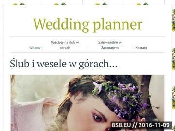 Zrzut strony Organizacja wesel, ślubów w Zakopanem