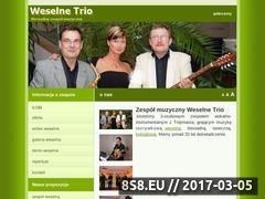 Miniaturka domeny www.weselnetrio.pl
