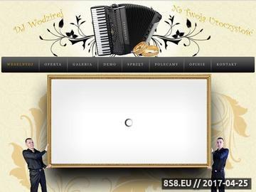 Zrzut strony DJ na wesele Warszawa