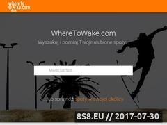Miniaturka wheretowake.com (Strona z informacjami o wakeboard i wakeparkach)