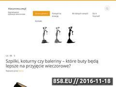 Miniaturka wieczorowa.com.pl (Stylizacje wieczorowe)