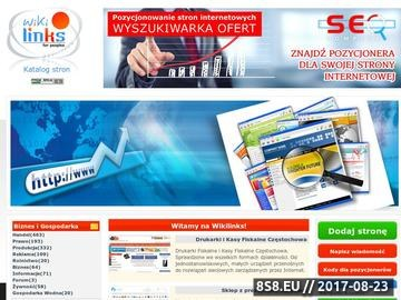 Zrzut strony Katalog stron jest pomocny w promowaniu stron WWW