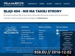 Miniaturka domeny willa.majerczyk.pl