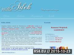 Miniaturka domeny www.willaadek.pl