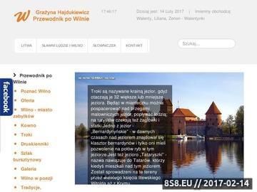 Zrzut strony Przewodnik po Wilnie
