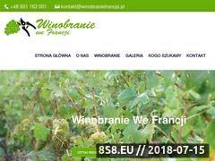 Miniaturka winobraniefrancja.pl (Winobranie Francja)