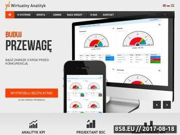 Zrzut strony Analizy biznesowe systemu Wirtualny Analityk