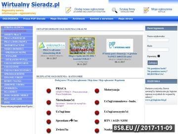 Zrzut strony Wirtualny Sieradz - Ogłoszenia lokalne . Oferty firm.