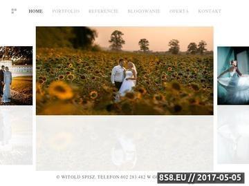 Zrzut strony Witold Spisz | fotografia ślubna | zdjęcia ślubne | tel.602 283482