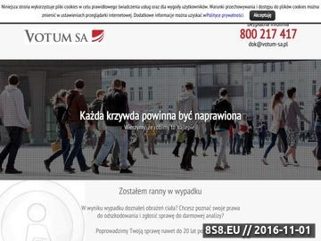 Zrzut strony Votum SA Odszkodowania - GŁOS W TWOJEJ SPRAWIE