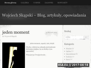 Zrzut strony Wojciech Skąpski - opowiadania, artykuły, wywiady