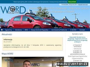 Zrzut strony Prawo jazdy Olsztyn