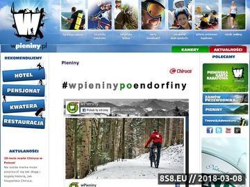 Zrzut strony Pieniński Portal Turystyki Aktywnej
