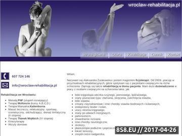 Zrzut strony Wrocław - Rehabilitacja - masaż - fizykoterapia - mgr Aleksandra Żurakowska
