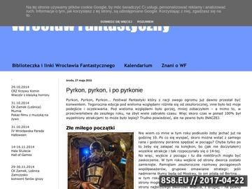 Zrzut strony Fantastyczny przewodnik po Wrocławiu
