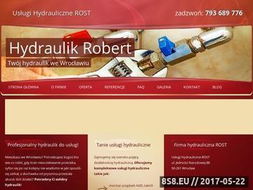 Zrzut strony Hydraulik Wrocław