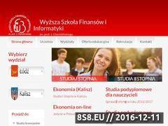 Miniaturka wsfi.edu.pl (Szkoły wyższe Łódź)
