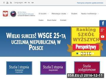 Zrzut strony WSGE w Józefowie - studia online Warszawa, Józefów, Otwock