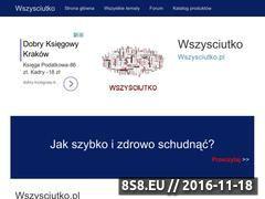 Miniaturka Witryna prezentująca ogromną bazę wiadomości (wszysciutko.pl)