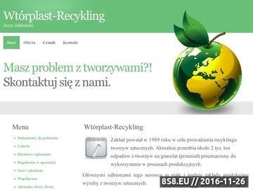 Zrzut strony Wtórplast - skup odpadów