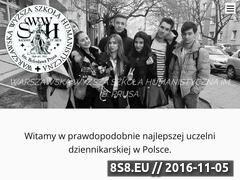 Miniaturka domeny www.wwsh.edu.pl