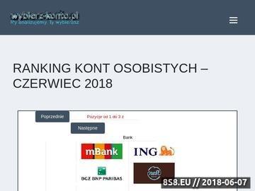 Zrzut strony Oferujemy ranking rachunków bankowych
