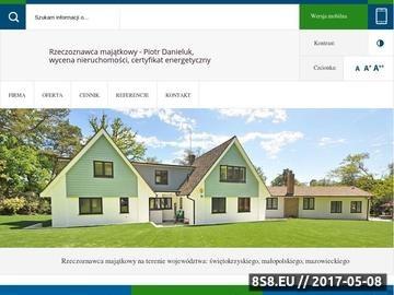 Zrzut strony Wycena nieruchomości, świadectwa energetyczne i inwentaryzacje