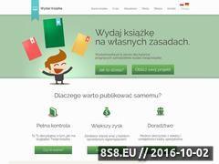 Miniaturka www.wydacksiazke.pl (Wydawanie książek i publikacji online)