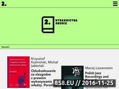 Miniaturka wydawnictwadrugie.pl (Publikacje naukowe i artystyczne)