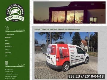 Zrzut strony Agencja Reklamowa GEOSPACE - Żarów, Strzegom, Świdnica, Wrocław