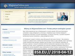 Miniaturka www.wygranaonline.com (Serwis zawierający rankingi i inne informacje)